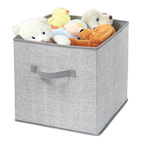 mDesign Nursery Organizer Stuffed Blankets