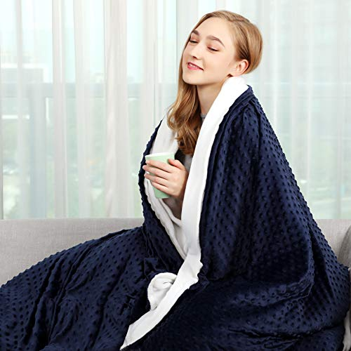 Cheap CHIAVE Weighted Blanket for Adult and Teens 15 Lbs 48
