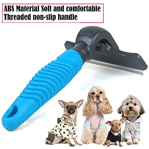 new Keypai Professional Pet Dog Dematting Comb Grooming Rake De-shedding Tool Brush for Medium Long Hair Dogs and Cats