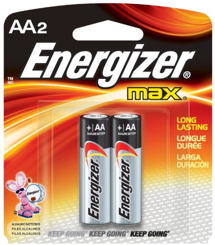 MAX Alkaline Batteries, 2 Batteries/Pack 2 Batteries/AA Battery