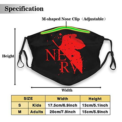 UxaliO Fashion Printed Mask Evangelion Dust Mask with Filter Element Anti-Dust Mask