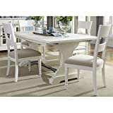Liberty Furniture Harbor View II Dining 5-Piece Trestle Table Set, Linen Finish