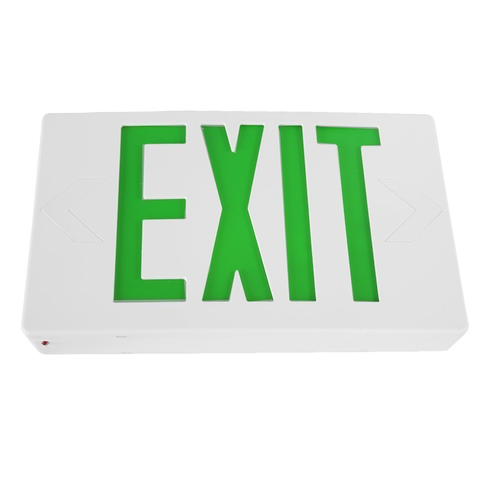 galleon lfi lights hardwired red led combo exit sign. Black Bedroom Furniture Sets. Home Design Ideas