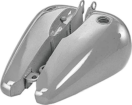 Side Gas Tank Flat - HARDDRIVE 3.5 Gallon Flat Side Gas Tank, Screw Style Bungs