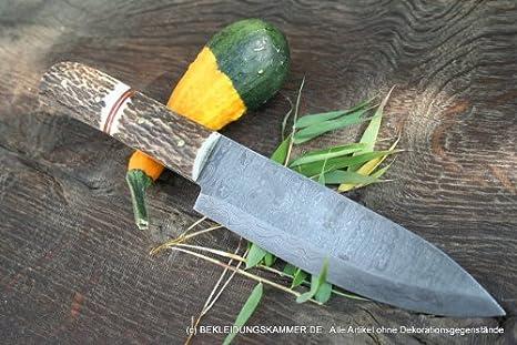 Cuerno de ciervo de Damasco cuchillo de Damasco cuchillo de ...