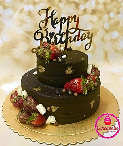 Buy Joyglobal Happy Birthday Letter Acrylic Cake Topper Decoration For Special Golden Color 1 Pieces Online At Low Prices In India Amazon In