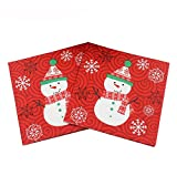 LAAT Christmas Double Layer Paper Napkins Christmas Party Table Decoration Wedding Banquet Napkin Paper Napkin Tissue