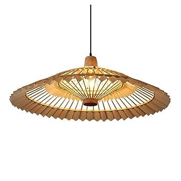 Shirley Home Araña de madera antigua luz colgante clásico ...