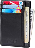 Kinzd Slim Wallet RFID Front Pocket Wallet Minimalist Secure Thin Credit Card Holder Men Women