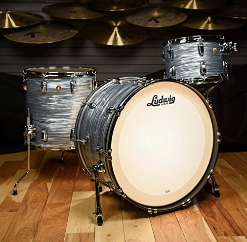Ludwig 13/16/24 Classic Maple Pro Beat Kit Vintage Blue Oyster
