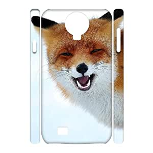 DIY Red fox singing 3D Case, DIY 3D Durable Case Cover for samsung galaxy s4 i9500 with Red fox singing (Pattern-1)