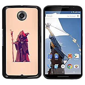 For Motorola NEXUS 6 / X / Moto X Pro Case , Fortune Teller Witch Old Man Crow - Diseño Patrón Teléfono Caso Cubierta Case Bumper Duro Protección Case Cover Funda