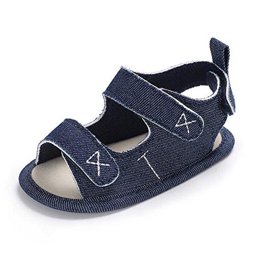 Soles Classic Sandal Soft (Baby Boys Girls Sandals Infant Summer Soft Sole First Walker Shoes(12cm(8-14 months),Dark Blue))