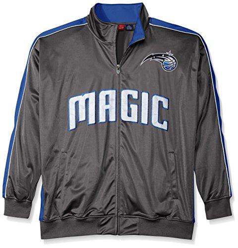 NBA Orlando Magic Men's Reflective Track Jacket, 4X, Charcoal/Royal (Gray Mens Track Jacket)