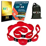 RFZA Yoga Strap for Stretching Non-Latex Ballet Stretch Band with 10 Loops – Elastic Exercise Stretch Belt for Flexibility – Physical Therapy Quad For Sale