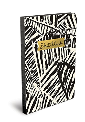 Studio Oh! Hardcover Coptic-Bound Sketchbook Available in 4 Different Designs, Ebony and Ivory Abstract