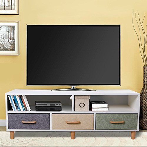 Living Room Drawers. Amazon com  Lifewit Wood TV Stand Storage Console Contemporary Entertainment Unit Center Cabinet with 3 Drawers and 2 Shelves White Home Kitchen
