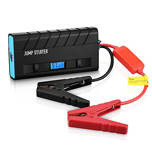 Jump Starter, [High Quality]Pictek Car Jump Starter 3-in-1 ( Rechargeable Portable Mobile Power Bank, 500A Output, LED Flashlight) 13600mAh External Battery Charger