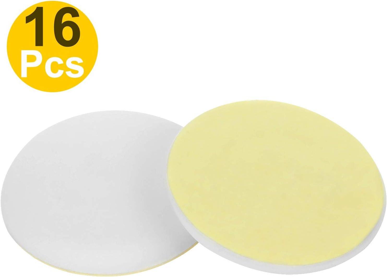 Doorknobs Wall Self Adhesive Round Soft Rubber Guard Prevent Damage to Door 1.57 Wall Protector White Door Bumper 16 Packs Door Stopper Door Knob Wall Shield