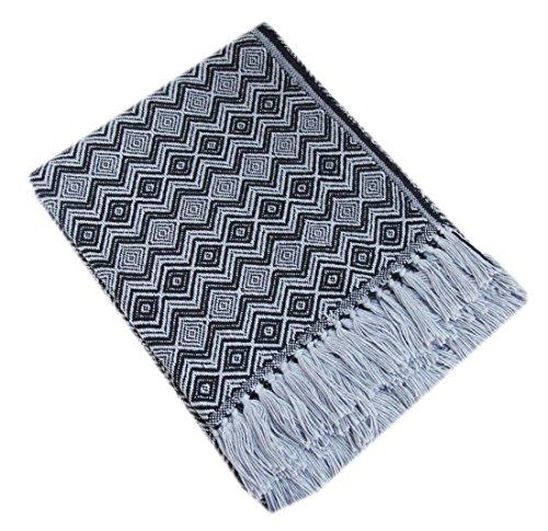 Ethnic Woven Alpaca Wool Blanket Throw Fringed