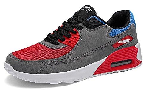 JiYe Running Shoes Men Fashion Students Breathable air Cushion Flyknit Sneakers,Grey,43EU=9.5US-Men by JiYe (Image #7)