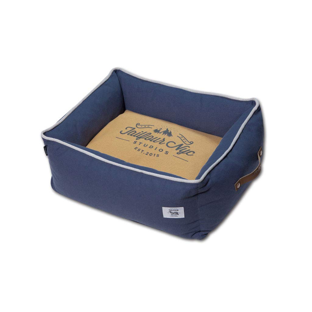 bluee 50x50x23cm bluee 50x50x23cm YangMi pet Bed- Kennel Dog Bed Can Be Completely Removed and Small Pet Supplies (color   bluee, Size   50x50x23cm)