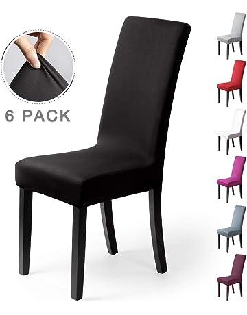 BalladHome Housse De Chaise Decor 4 Pieces Stretch Couverture