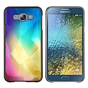Polígono Colores- Metal de aluminio y de plástico duro Caja del teléfono - Negro - Samsung Galaxy E7 / SM-E700
