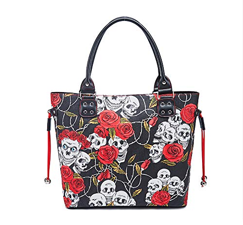FIYOMET Fashion Handbags for Women Rosebud Canvas Tote Bag Handle Satchel Bag for - 2 Rosebud Charms
