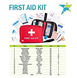 5 Star Complete First Aid Kit - 102 pieces - Essential for Home, Car, Office, Sports, Camping and General Safety - 100% Satisfaction