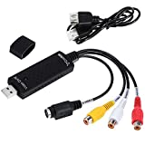 Costech Video & Audio DVR Capture USB 2.0 Converter Adapter With Stereo Audio HDTV VHS DVD RCA S-Video Input for PC Laptop Windows 2000 / Windows XP/ Vista(32 bit) / 7/ 8