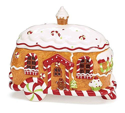Gingerbread Camper Cookie Jar