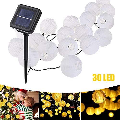 Echoming Guirnalda de Luces Solar, 30 LED Cadena Luz de Solares Lamparas Solares de Exterior Farolillos Solares para Jardin,...