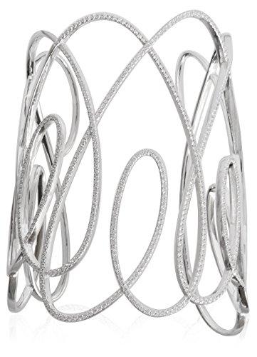 APM Monaco-Bracelet Femme-Argent Sterling Zircones de 6cm de diamètre ab303efc90468ox M