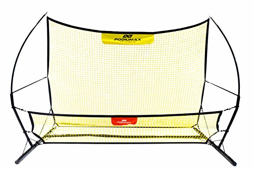 PodiuMax Soccer Rebounder Net, 2 in 1 Soccer Trainer to Improve Soccer Passing and Solo Skills, 6.8x4 ft, Portable (Trainer Soccer Rebounder)
