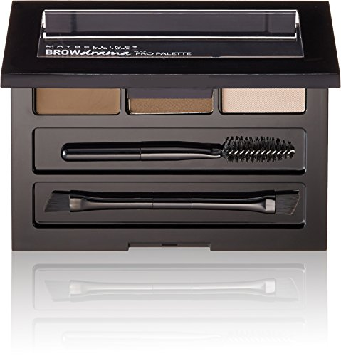 Maybelline New York Brow Drama Pro Eyebrow Palette, Soft Brown, 0.1 oz. (Best Cheap Eyebrow Powder)