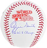 Ozzie Smith St. Louis Cardinals Autographed 1982 World Series Logo Baseball with 82 WS Champs Inscription - Fanatics Authentic Certified