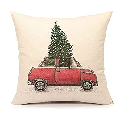 RED PLAIDS pillow cover