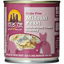 Weruva Classic Cat Food, Mideast Feast with Grilled Tilapia & Whole Meat Tuna in Gravy, 10oz Can (Pack of 12)