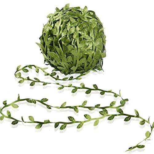 Artificial Vine Fake Leaves 265 Feet Artificial Leaf Garlands Fake Hanging Plants Fake Foliage Garland DIY for Wreath Party Wedding Wall Crafts Decor -
