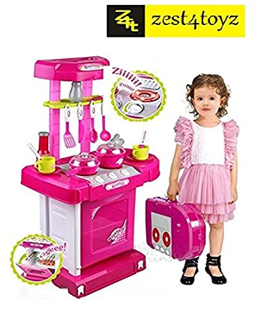 Buy Zest 4 Toyz Kitchen Set Kids Luxury Battery Operated Kitchen ...