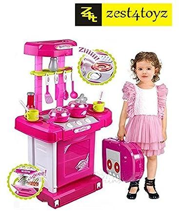 Superb Zest 4 Toyz Kitchen Set Kids Luxury Battery Operated Kitchen Super Set Toy