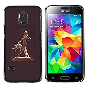 A-type Colorful Printed Hard Protective Back Case Cover Shell Skin for Samsung Galaxy S5 Mini / Samsung Galaxy S5 Mini Duos / SM-G800 !!!NOT S5 REGULAR! ( Statue Woman Naked Nude Dog Ancient God )