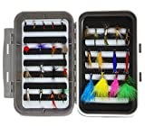 #7: LotFancy Dry Wet Flies Fly Fishing Tackle Kit - Nymph Flies, Woolly Bugger Flies, Streamers, Caddis Fly Assortment for Trout Bass Salmon