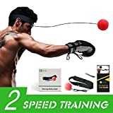 Gdaytao Boxing Reflex Ball with Headband, Boxing Fight Ball on String, Training to Improve Hand Eye Coordination, Punching Skill, Speed, Reaction, Great Boxing Trainer for Kids and Adult