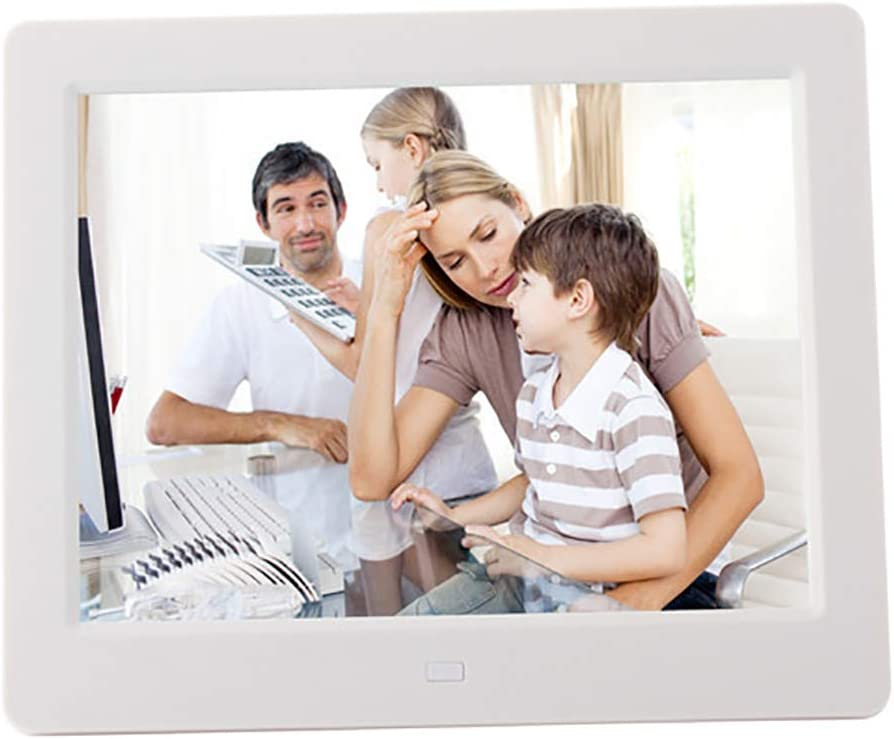 1024768 IPS Display Electronic Picture Frame 1080P HD Video Playback Support MS//SD//MMC Card Digital Picture Frame,Black,UK 8 Inch Digital Photo Frame