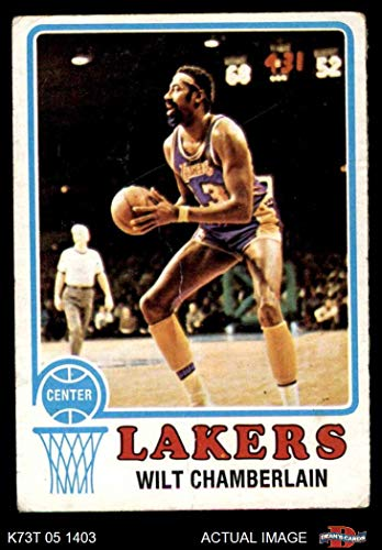 1973 Topps # 80 Wilt Chamberlain Los Angeles Lakers (Basketball Card) Dean's Cards 2 - GOOD Lakers