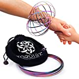 Toroidz RAINBOW w/ Official Velvet Travel Bag - Amazing Magic Flow Toy - Interactive Museum - 3D ARM RING - Science, Circus , Festival - All Ages Gift