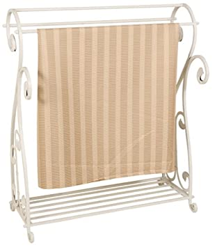 Amazon.com: Whitewash Metal Quilt Rack with Shelf: Kitchen & Dining : metal quilt rack - Adamdwight.com