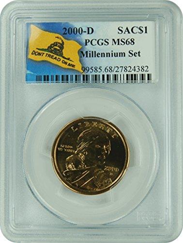 2000 D Millenium Set Sacagawea Millenium Set Sacagawea Dollar PCGS MS-68